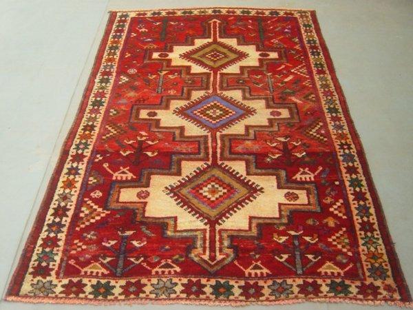 20: Semi Antique Rugs Persian Zanjan Rug 7x4