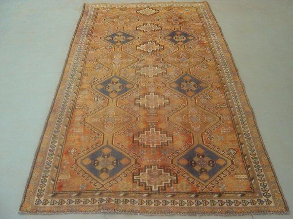 21:  Semi Antique Rugs Persian Kashkoli Gallery Rug 8x
