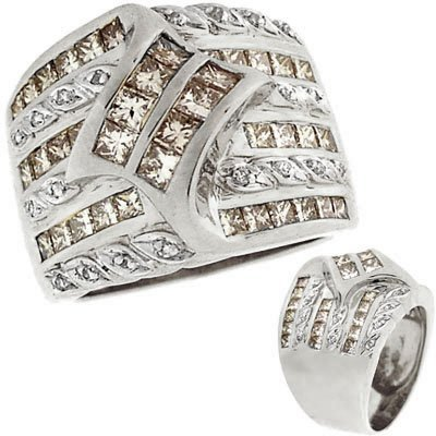 50: 14WG 2.14c Diamond princess channel band ring