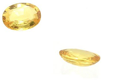 4119: 1.30+ct Yellow Sapphire Oval Loose Stone 8x6mm