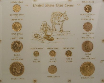 5136: 22KY US Gold Type 12PC Set Collection 133gm