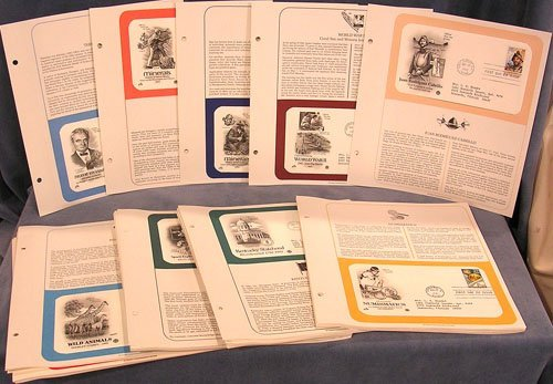 6321: Lot of 72 Postal Commemorative Society First Day
