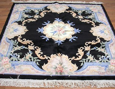 65001: Square Chinese Aubusson Rug 6x6