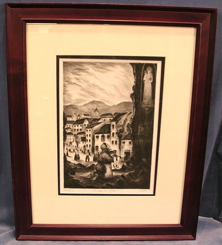 65003: Limited Edition Etching by by listed artist A.B.