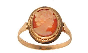 7106: 14KY Cameo Lady Ring