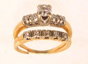 7113: 14KY .50ct Diamond set Estate ring