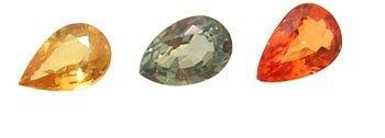 7115: 1.30+ ct Mix Sapphire Pear 6x4mm Parcel 3 Pieces