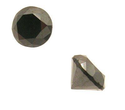 7116: 1.55+ct Black Diamond Round 6.5mm Loose Stone