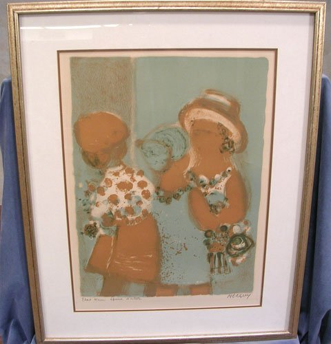 66003: Original Lithograph by listed artist Frederic Me