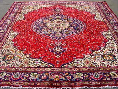 80002: PERSIAN MURAND TABRIZ CARPET 13x10
