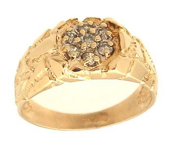 8116: 14KY .20ctw Diamond Cluster Nuggert Style Ring