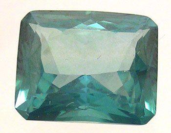 8325: 5+ct. Ever Green Topaz E-Cut Loose 11x9mm Stone