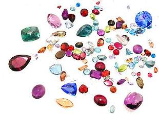 100ct. Mix of Loose Stones Parcel