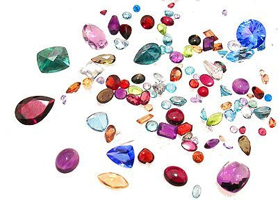 8332: 100ct. Mix of Loose Stones Parcel