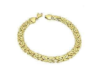 14KY Woven Laides Bracelet 8gm