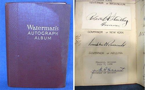 60004: 1932 Watermans Autograph Album