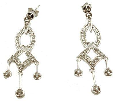 9104: 14KW .50cttw Diamond Rd Dangle Earrings