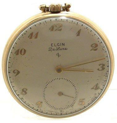 9109: GFilled 17J Elgin DeLuxe 10S Pocket Watch c.1952
