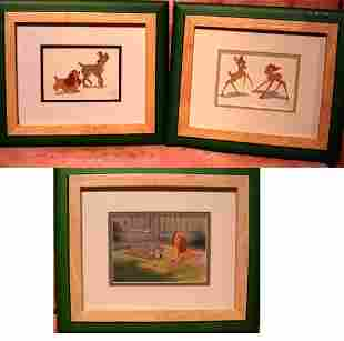 3 Sericels from Disney Animation Studios