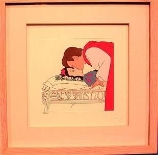 Disney Etching of Snow Whites First Kiss