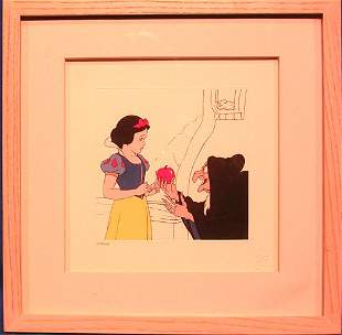 Disney Etching of Snow White and the Evil Queens