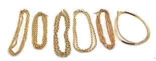 6PC Vermeil-14k & Sterling Necklace Chain 91gm