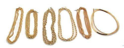 9304: 6PC Vermeil-14k & Sterling Necklace Chain 91gm