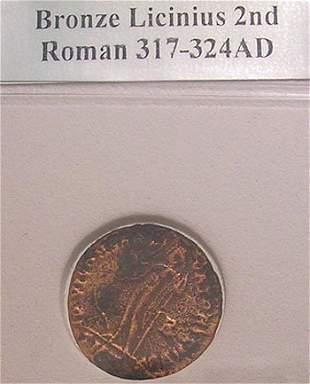 Roman Bronze Licinius Second Coin 317-324AD