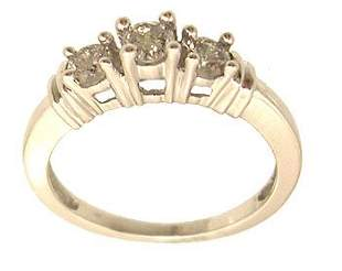 14KW .50cttw Diamond Round 3-Stone Ring