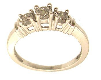 9314: 14KW .50cttw Diamond Round 3-Stone Ring