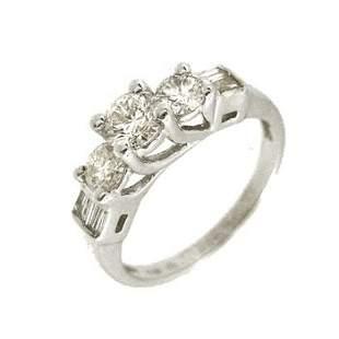 14KW .40ct Diamond Cntr .60cttw Rd/bag Ring