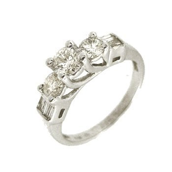 9316: 14KW .40ct Diamond Cntr .60cttw Rd/bag Ring
