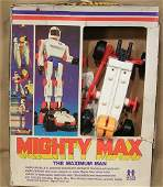 9323: 1976 Mighty Max Robot Near Mint Condition w/ Box