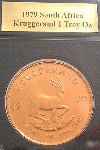 9413: 22KY 1979 South Africa Kruggerand 1 Troy oz Coin
