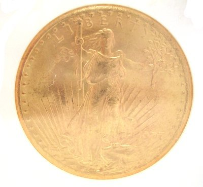 9424H: 22KY 1907-P $20 St Gaudens 1st Yr Issue Coin MS6