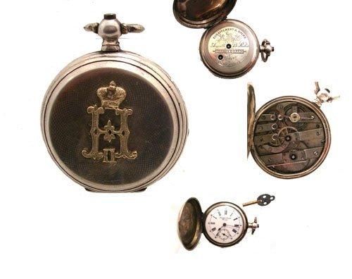 1199: Silver Faberge Czar Nichollas II Mandolin Watch 1