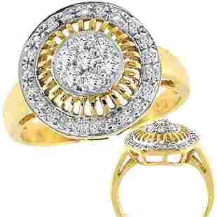 1/3cttw diamond round cluster ring