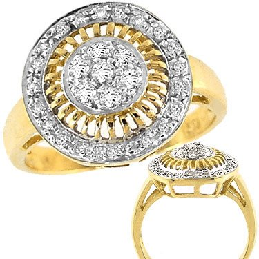 2001: 1/3cttw diamond round cluster ring