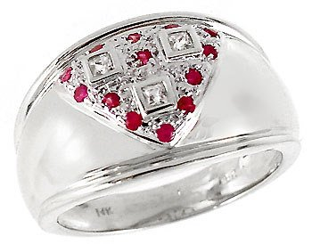 2009: WG White Sapphire & Pink Sapphire band ring