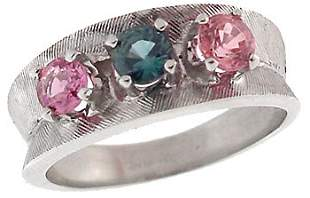 14WG 1ct Blue Pink Sapphire estate ring