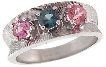 2017: 14WG 1ct Blue Pink Sapphire estate ring