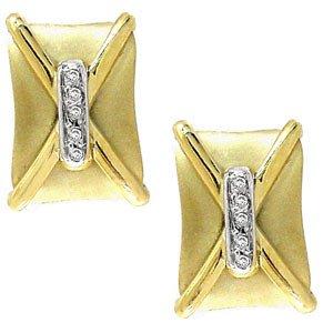 2023: Diamond Satin square buckle stud earring