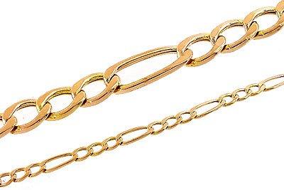 2024: 10KT Rose Gold figaro link necklace 22inch