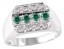 2047: WG .48ct blue white diamond mans ring