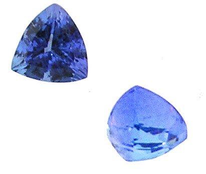3323: 1.35ct Tanzanite Trillion Cut Loose 6x6x6mm Stone