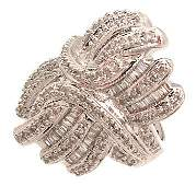 3382: 14KW 1cttw Diamond bag/rd Designer Ring