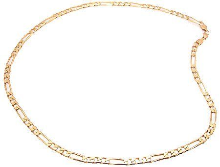 3463: 14KY Italian Figaro Chain Necklace 49gm