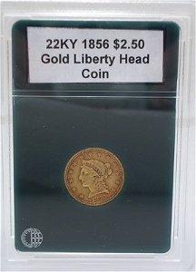 2307: 1856 $2.50 Gold Liberty Head BU Coin