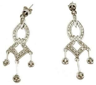 14KW .50cttw Diamond Rd Dangle Earrings