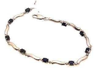 10kw 1.80ctw Sapphire Oval Diamond Link Bracelet